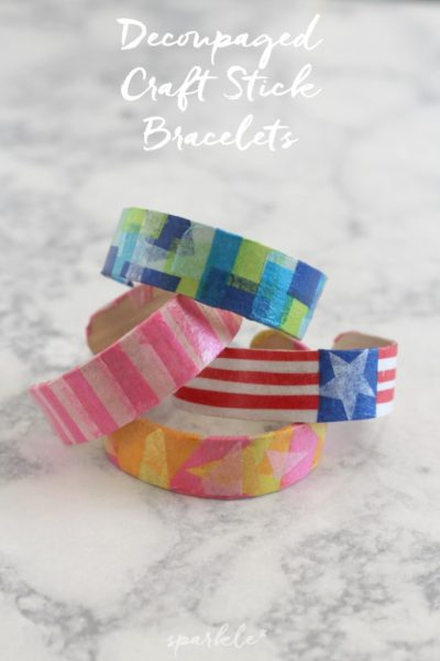 Decoupaged-Craft-Stick-Bracelets