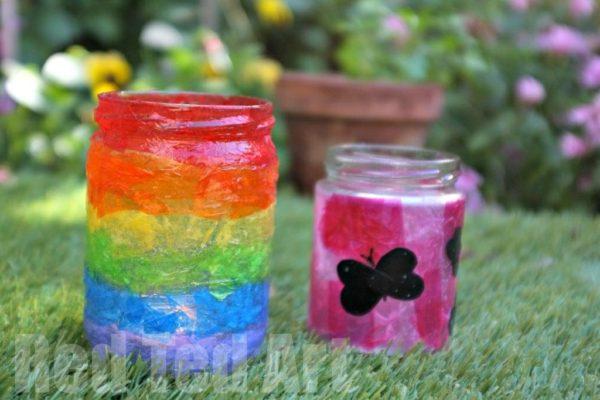 Summer-Lantern-Rainbow-Kids Craft ideas
