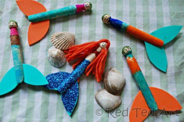mermaid-clothespeg-Kids-Craft-ideas