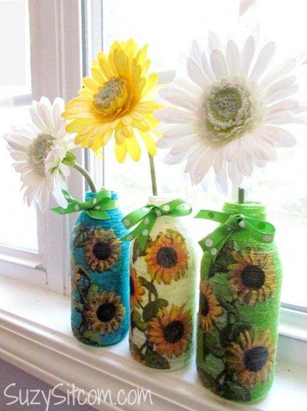 yarn-wrapped-bottle-art-Kids-Craft-ideas