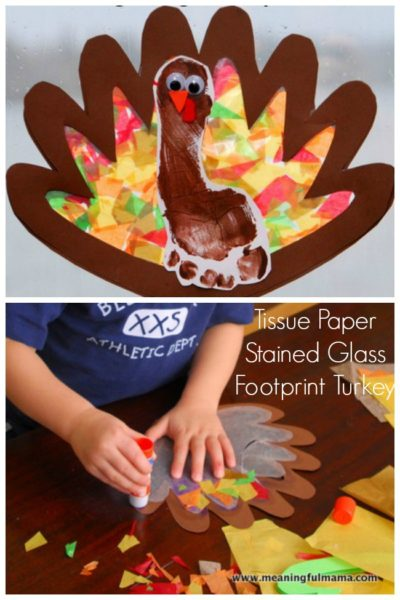 tissue-paper-stained-glass-turkey-footprint-kids-craft-ideas-for-fall