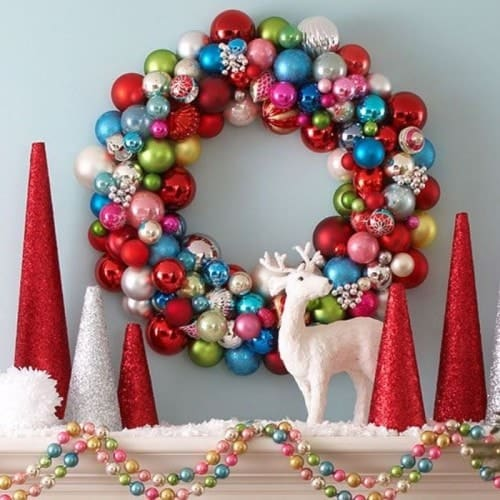 ornament-wreath-mantle-e1449137457106-Kids-Craft-Ideas-For-Christmas