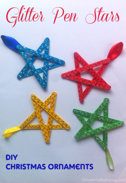 easy-christmas-ornaments-for-kids-glitter-stars-Kids-Craft-Ideas-For-Christmas