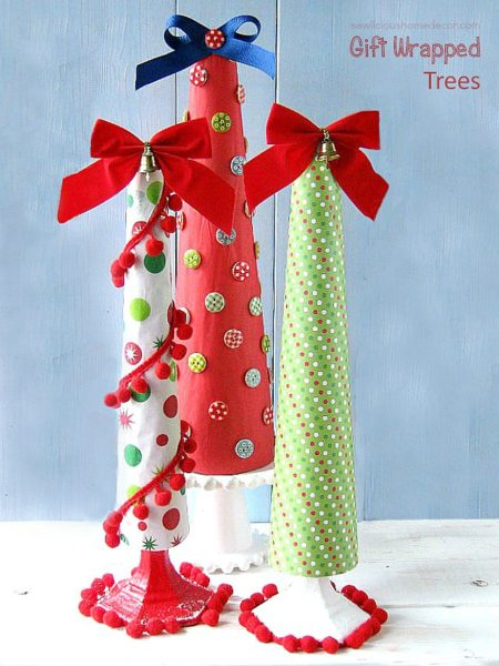 wrapped-cones-with-tissue-paper-or-wrapping-paper-for-a-diy-holiday-christmas-tree-at-sewlicioushomedecor-Kids-Craft-Ideas-For-Christmas