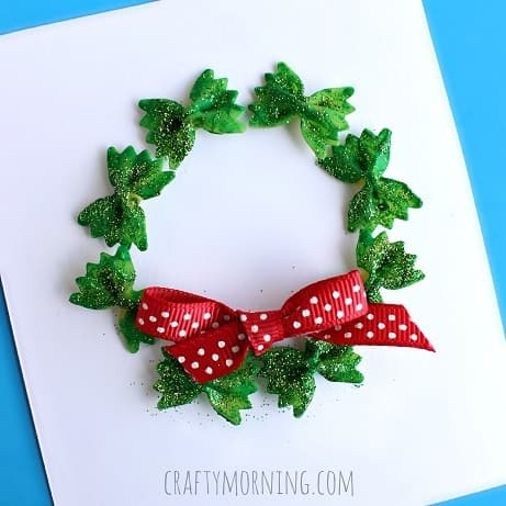 bow-tie-noodle-wreath-christmas-craft-for-kids-Kids-Craft-Ideas-For-Christmas