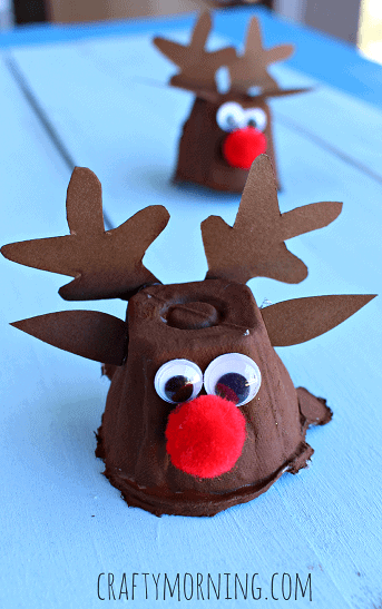 egg-carton-reindeer-christmas-craft-for-kids-Kids-Craft-Ideas-For-Christmas