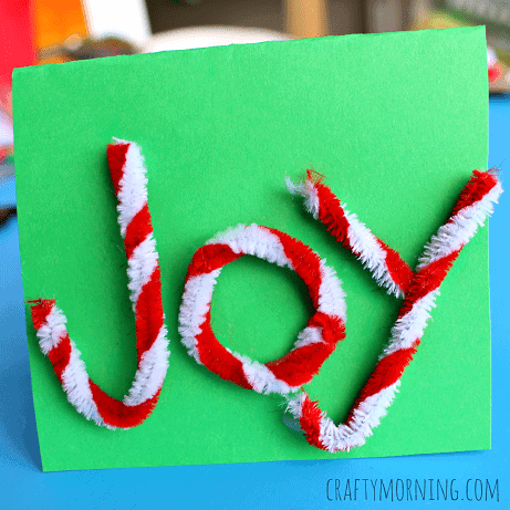 joy-pipe-cleaner-christmas-card-for-kids-to-make-Kids-Craft-Ideas-For-Christmas