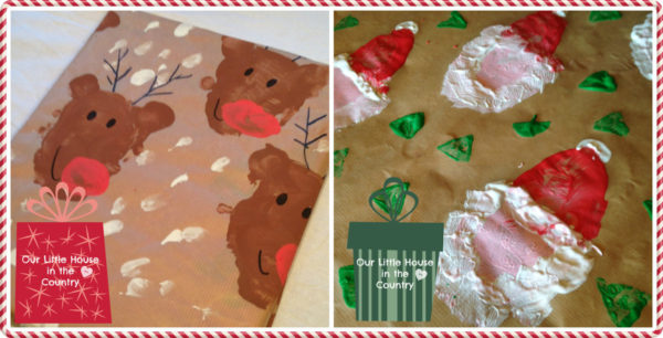 potato-print-reindeer-and-santa-christmas-wrapping-paper-our-little-house-in-the-country-2-Kids-Craft-Ideas-For-Christmas