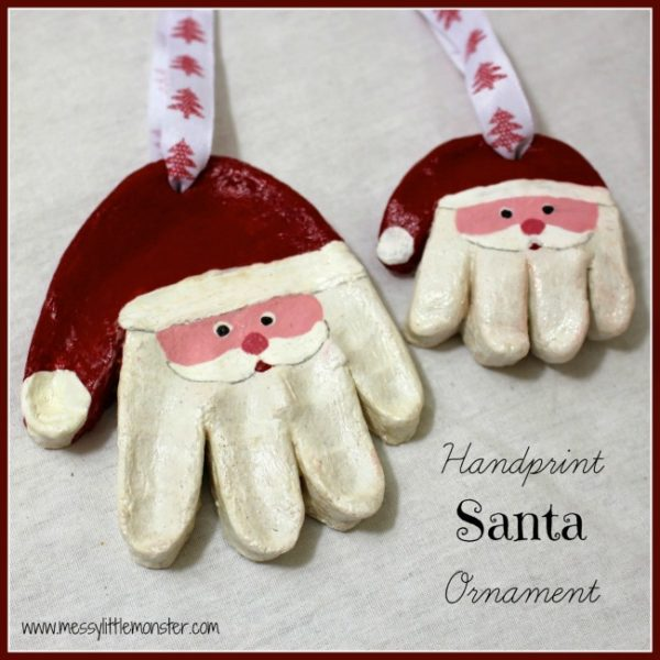 salt-dough-handprint-santa-ornament-Kids-Craft-Ideas-For-Christmas