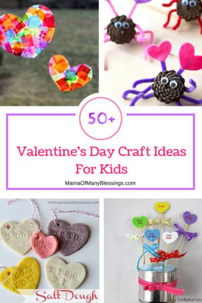 50 kids craft ideas for Valentines day