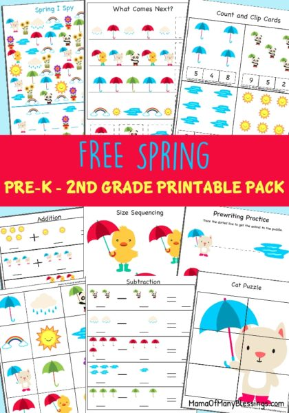 Free Educational Spring Printable Pack