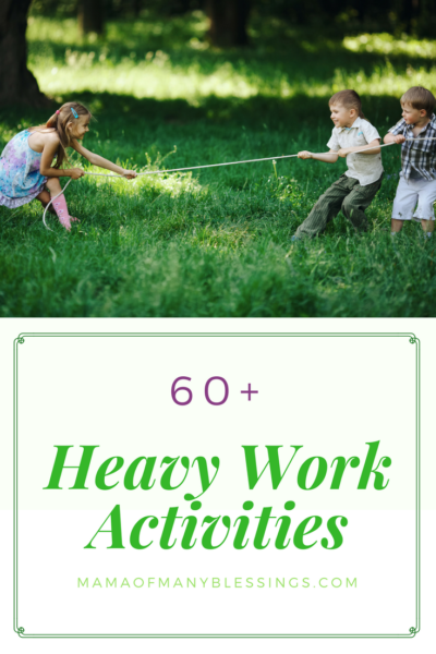 60 Heavy Work Activities Pinterest 2
