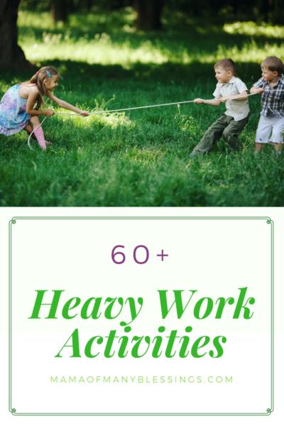 60 Heavy Work Activities Pinterest 2