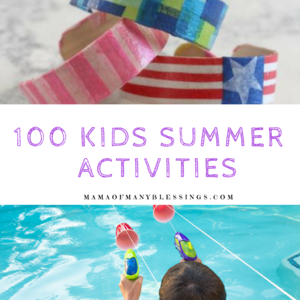 100 Kids Summer Activities