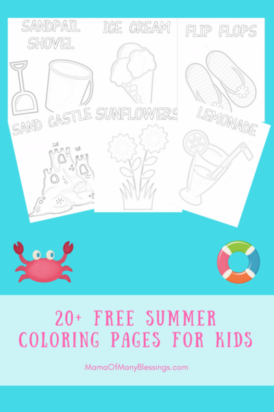 20+ FREE Summer Coloring Pages For Kids