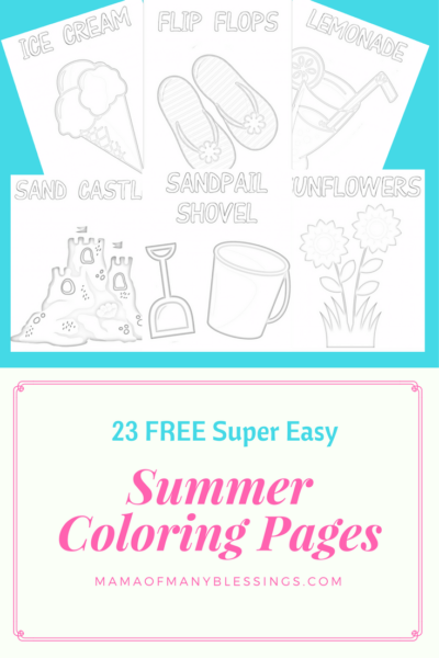 23 FREE Easy Summer Coloring Pages For Kids