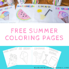 FREE Summer Coloring Pages 2