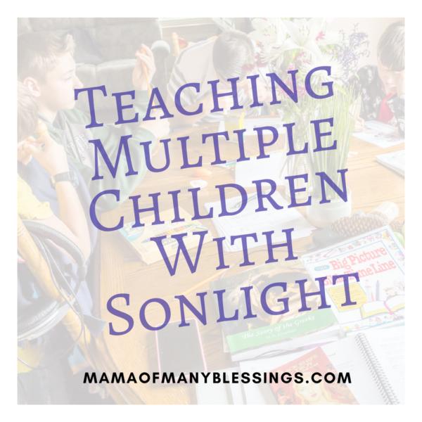 Sonlight With Multiple Children