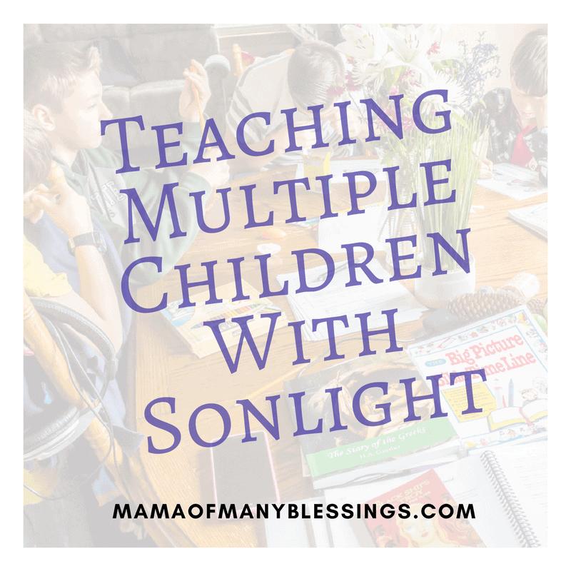 Teaching Multiple Children With Sonlight 2