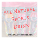 All Natural Sports Drink and GIVEAWAY