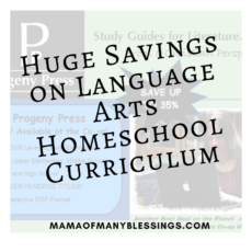 Huge Savings On Language Arts Homeschool Curriculum