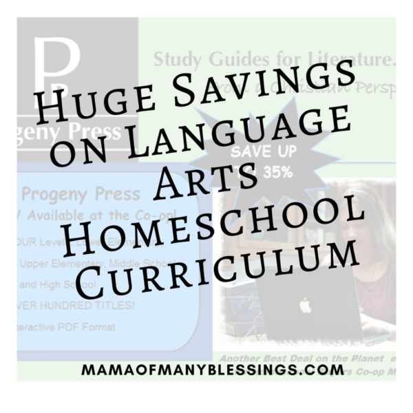 Huge Savings On Language Arts Homeschool Curriculum