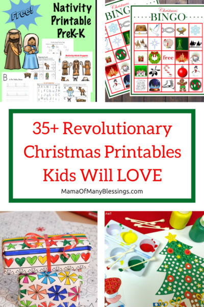 35 Christmas Printables Kids Will LOVE Pinterest Collage