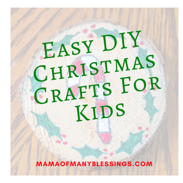 Easy DIY Christmas Crafts For Kids Square