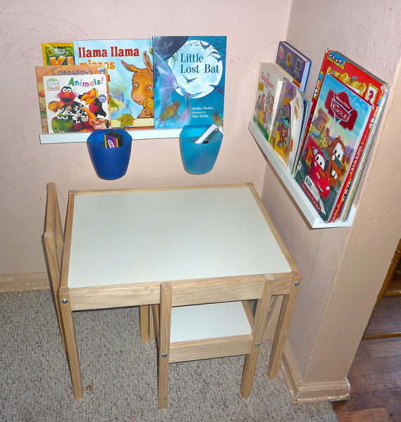 ikea kids reading and activity nook. Black Bedroom Furniture Sets. Home Design Ideas