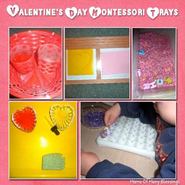 valentine day montessori trays