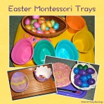 More Easter Practical Life Montessori Trays