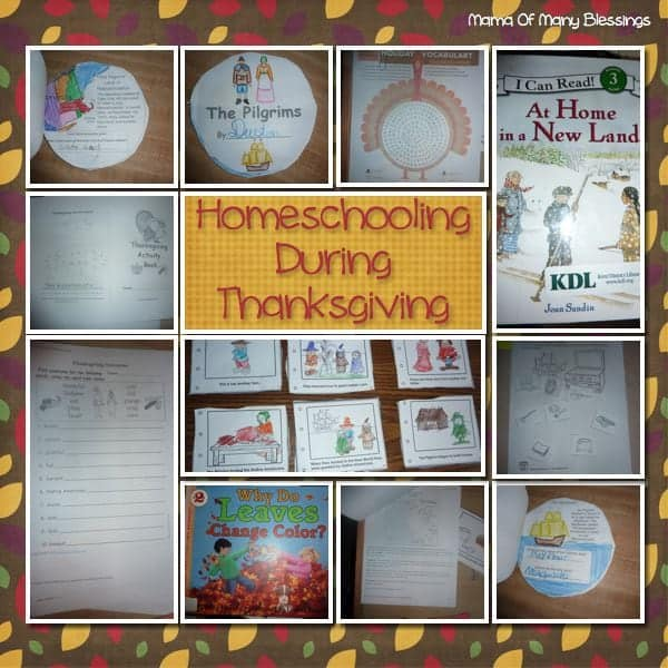 Thanksgiving Homeschool Unit Study