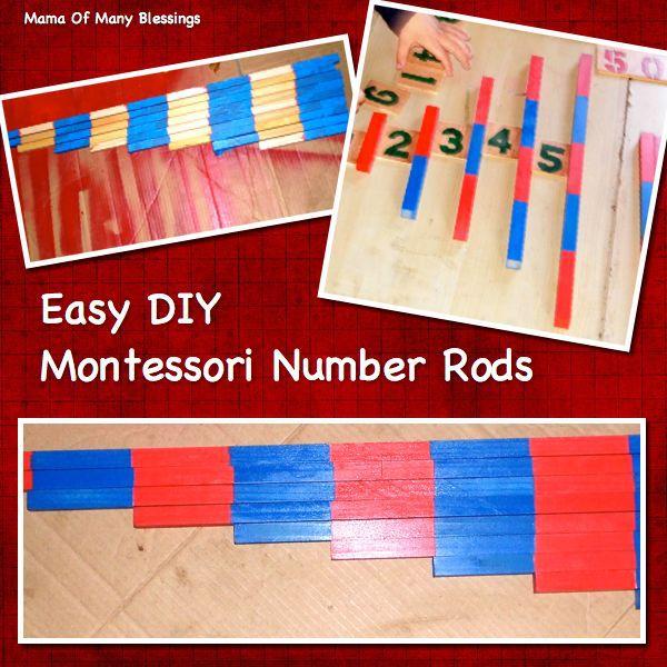 Easy DIY Montessori Number Rods