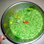 Fall Sensory Bin ~ Tractor Rice Sifting