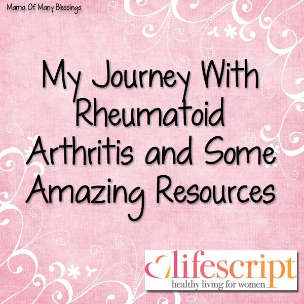 My Journey With Rheumatoid Arthritis ~ #Lifescript #ad