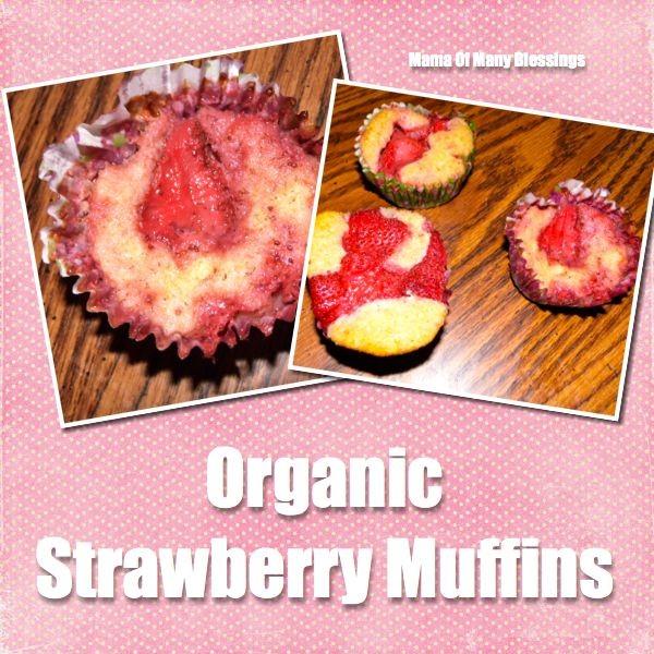 Organic-Strawberry-Muffins