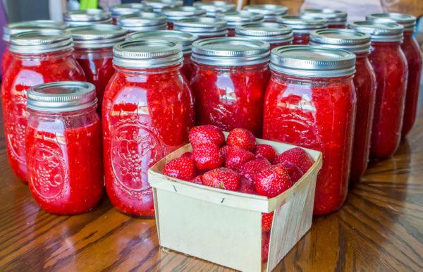Low Sugar Strawberry Freezer Jam