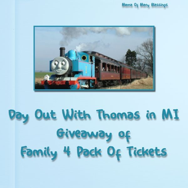 Day Out With Thomas ~ Michigan & Family 4 Pack Giveaway