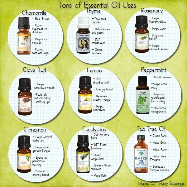 Different Essential Oil Uses