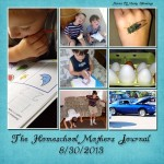 Homeschool Mothers Journal 8/30/2013