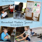 Homeschool Mothers Journal ~ 9/13/2013 #homeschool