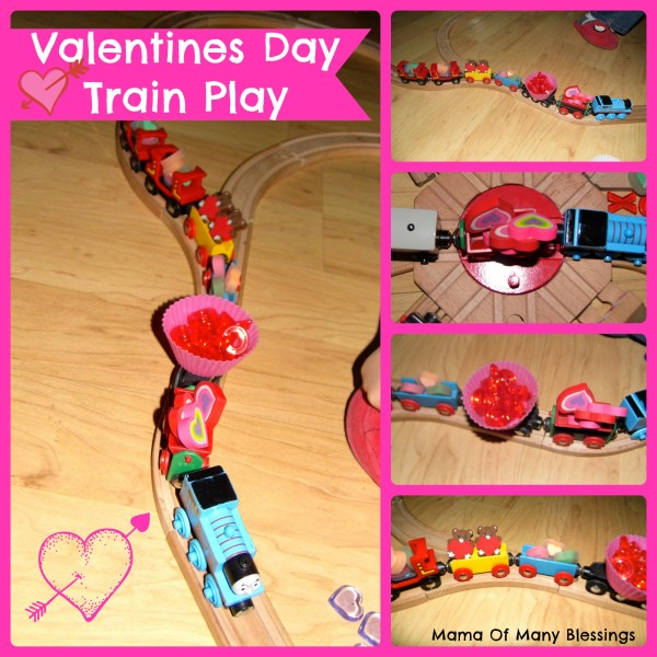 Valentines Day Train Play Collage