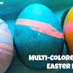 Easter Egg Decorating ~ Multi-Colored Striped Easter Eggs