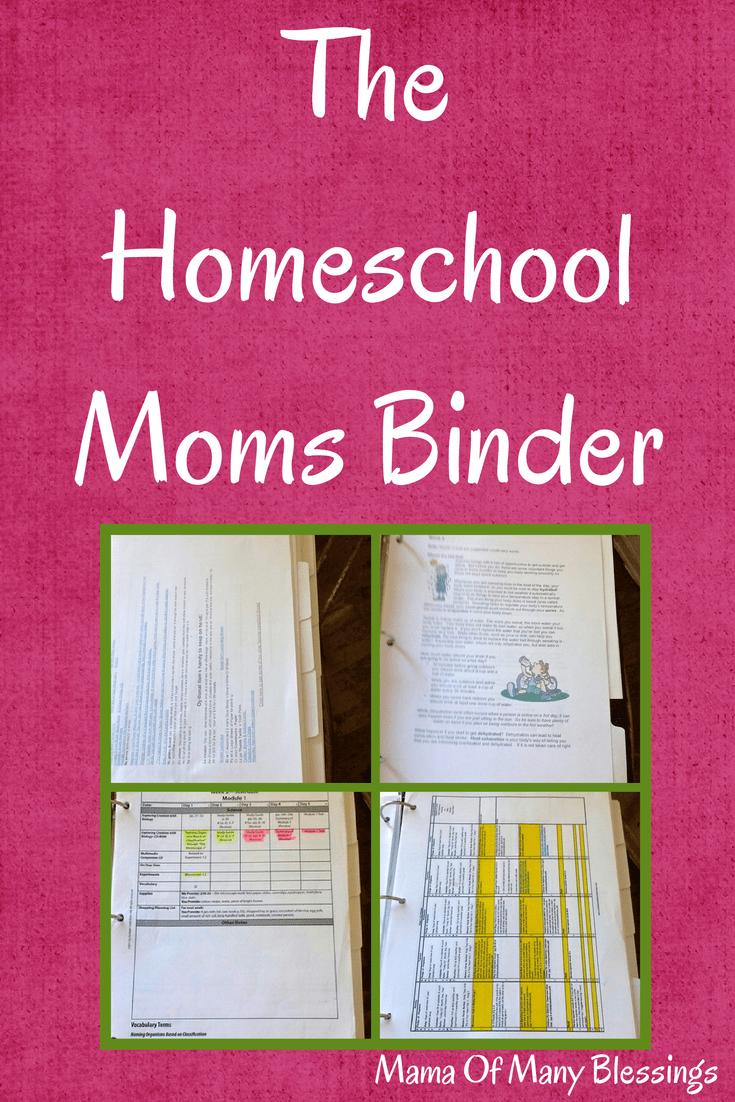 Homeschool planning the homeschool mom binder for Home planning binder