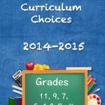 2014-2015 Homeschool Curriculum Choices