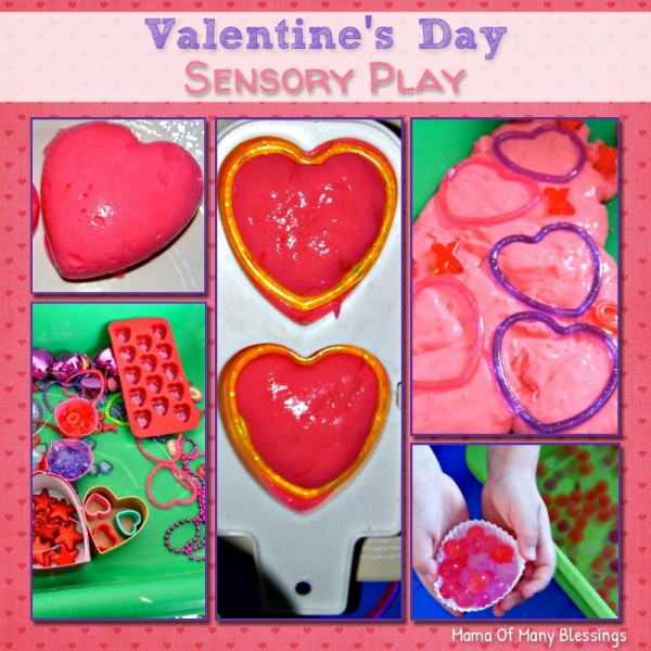 Valentine day sensory idea