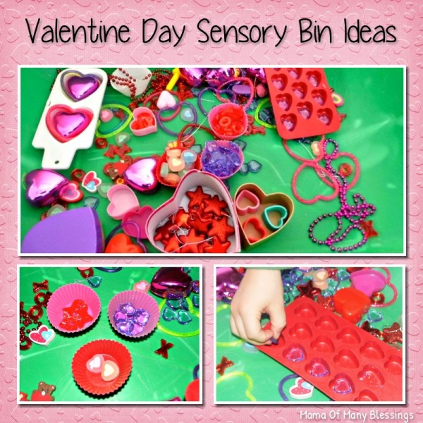 Valentine Day Sensory Play