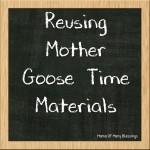 How We Reuse Our Preschool Supplies