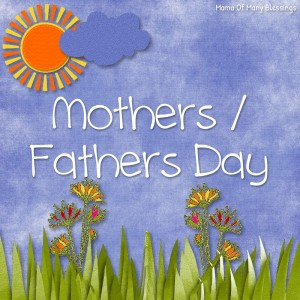 Mothers day and Fathers Day Ideas