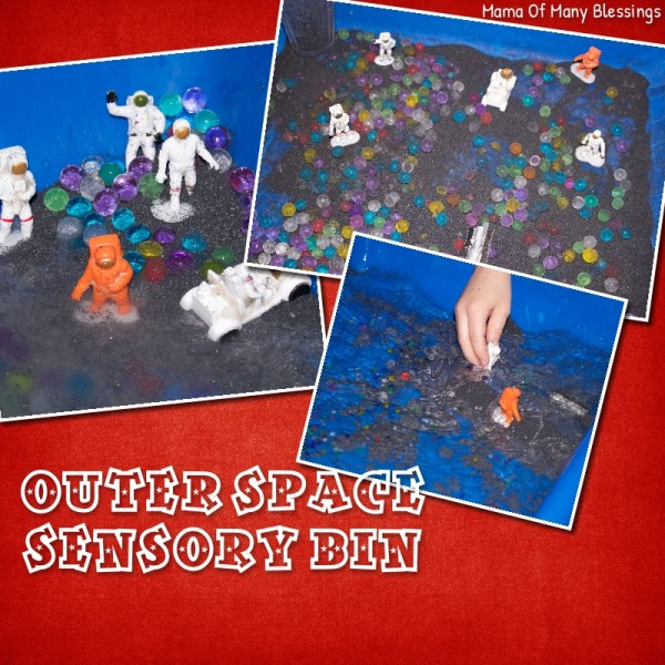 Outer Space Sensory Bin Idea